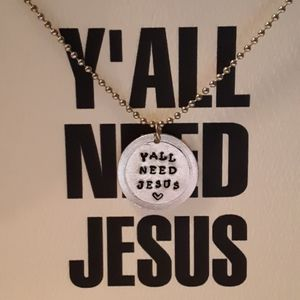 YALL NEED JESUS Necklace